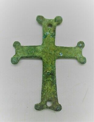 Detector Finds Late Medieval Bronze Cross Crucifix Ornament Amulet Wearable