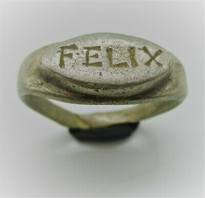 Detector Finds Ancient Roman Silver Ring With 'Felix' On Bezel