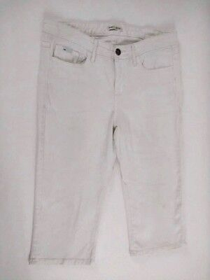Lee Lower on the Waist White Carpis Cropped Womens Jeans Size 12 Medium