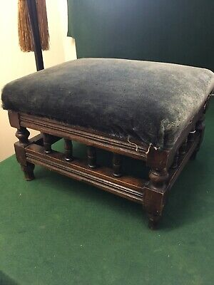 Vintage Antique Footstool Prayer Stool