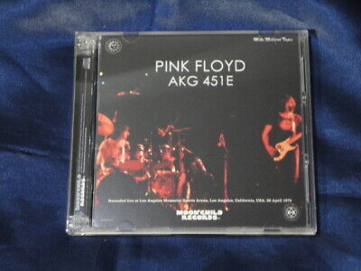 Pink Floyd AKG 451E 26 April 1975 CD 3 Discs 18 Tracks Moonchild Records Rock