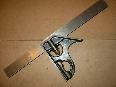 """Fisher 12"""" Combination Square - Rule Made In England - As Photo"""