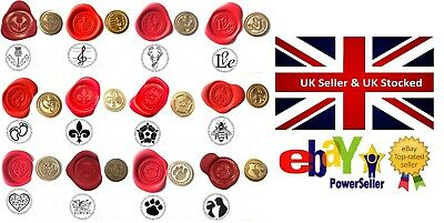 Wax Stamp Sealing COINS ONLY 100+ Design Choices Optional Melt Handle avail. too