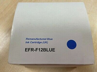 Re-manufacture Blue Ink Cartridge F12 Frama Matrix Replacement Franking Cartridg