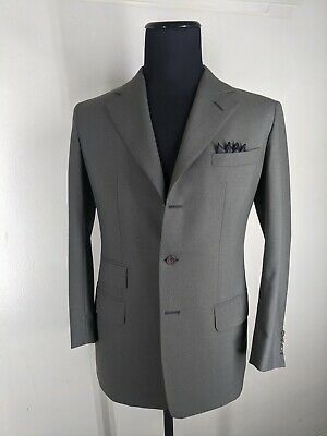 Anderson & Sheppard Made In UK  100% Wool Sport Coat 3 Btn  2 Vents Fit 40-42 Sh