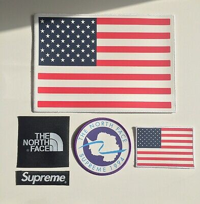 Supreme x The North Face Patch Set Jacket Fleece Backpack sew on/glue on TNF