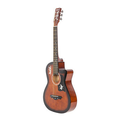 "41"" Adult Exquisite Basswood Body Acoustic Guitar with Gig Bag Picks Strap Tuner"