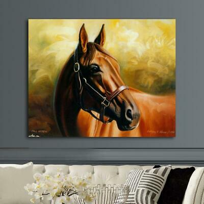 Thoroughbred Horse HD Canvas prints Painting Home decor Picture Wall art Poster