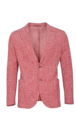 Eleventy Blazer Men's 50 SALE !! Red Slim Fit Twill Cotton