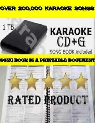 Karaoke hard drive 220,000 UPDATED Karaoke Songs