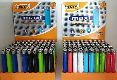 100 x BIC J26 LARGE MAXI LIGHTERS 2 X 50 PACK IN TRAYS