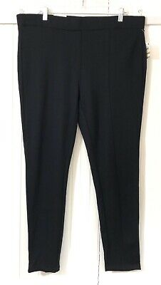 Style & Co. NWT Women's Plus Size 16W Pull On Leggings Solid Black Knit Stretchy
