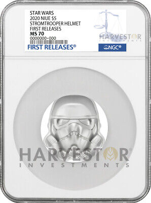 2020 Star Wars Stormtrooper Helmet - 2 Oz. Silver Coin - Ngc Ms70 First Releases
