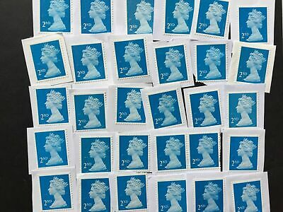 100 x 2nd or 1st Class GB Used Unfranked Stamps
