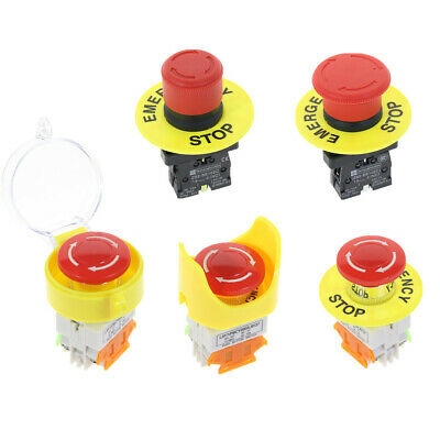 Emergency Stop Red Mushroom Cap Waterproof Push Button Switch LAY37-11ZS
