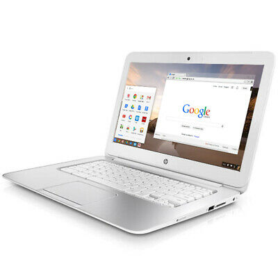 "HP Laptop Chromebook Powerful 14"" 16GB 4GB Webcam HDMI Refurbished White Cheap"