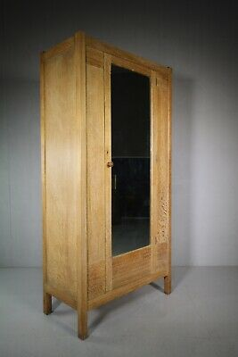 Heals of London Antique Letchworth Oak Wardrobe.