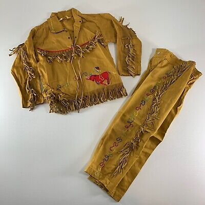 Vintage J Bar T Western Wear Child's Shirt & Pants Embroidered Rodeo Cowboy