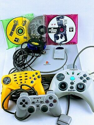 Sony PlayStation 1 SCPH-7501 PS1 Console System Bundle Games PS1 Games
