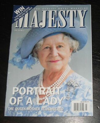 Majesty magazine The Queen Mother Vol 24 #3 March 2003 Princess Alexandra