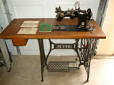 Antique Singer Industrial Sewing Machine Model 72 w 19 for Hemstitching
