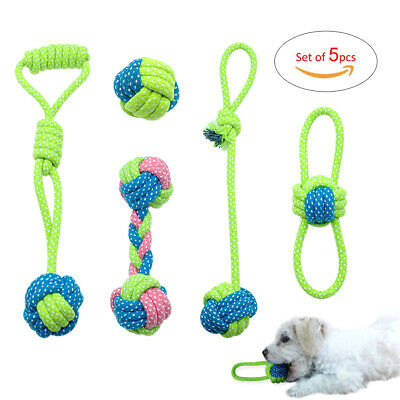 7patterns Interactive Dog Chew Toys for Aggressive Chewers Braided Cotton Rope