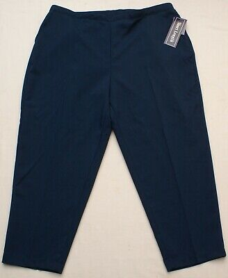 Womens Blue Pull-On Pants Slacks Back Elastic Waist, Laura Scott, Plus Sz 26W P