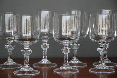 Danish collection vintage Scandinavian wine glasses & candlesticks mid century