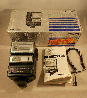 PHILIPS Flash P36CTLS Boxed with Manual Vintage Tested