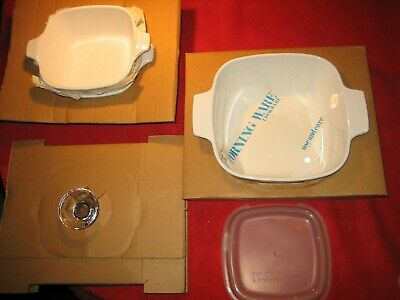 Corning Ware Cornflower Set A-914 New 1.5Qt Covered Saucepan Casserole 2 Petite