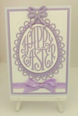 Handmade Easter Card: Happy Easter (Purple)