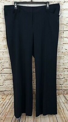 Lane Bryant womens size 18 pants trousers new navy blue stretch S3