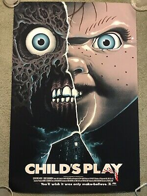 Child's Play Chucky Doll Brad Dourif Print Poster Mondo Horror Movie Gary Pullin
