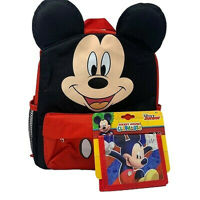 12in Licensed Mickey Mouse Happy Face 3D White Small School Backpack