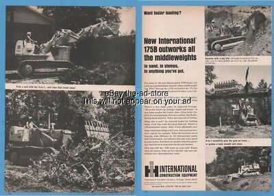 1965 International Harvester IH 175B Track Loader magazine photo Ad