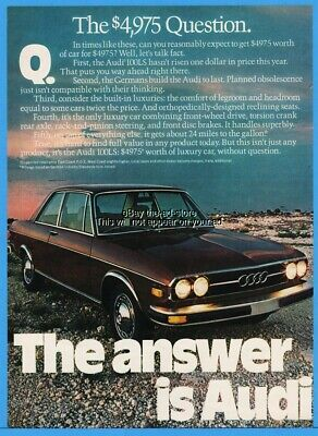 1974 Audi 100LS The $4975 Question No Planned Obsolescence Vintage Car Photo Ad