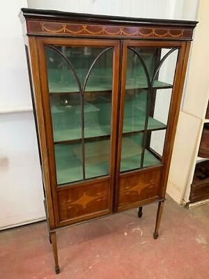 G11013 Vintage Inlay China Cabinet Display Cupboard