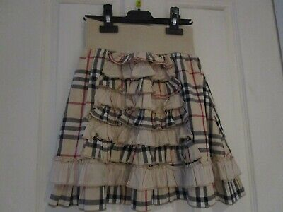 Burberry Ruffled Girl Skirt with Frills  As New Condition   size 6 y