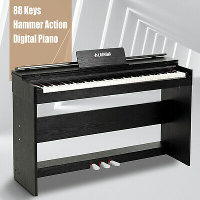 88 Weighted Action Key Electric Digital LCD Piano Keyboard w/Stand+3 Pedal Board