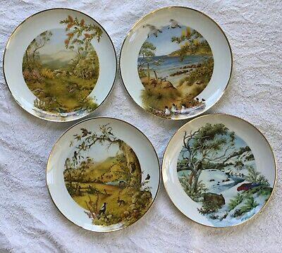 The four seasons of Australia plates by Diedre Hunt. Beautiful, as new cond.