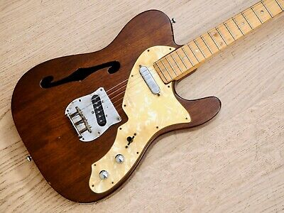 1970s Greco T-Style Thinline Semi-Hollow Mahogany Vintage Electric Guitar Japan