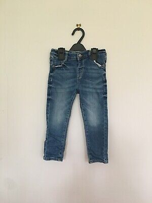 Boys jeans trousers size 3 years blue OVS adjustable waist