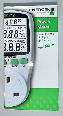 ENERGENIE Energy Saving Power Meter for UK household appliances boxed Mint