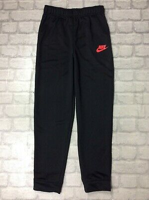 Nike Age 14-15 Years Uk Xl Poly Black Track Pants Joggers Sports Active Teens J