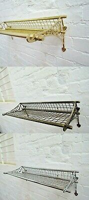 Solid Brass Victorian Vintage Old English Retro Railway Storage Luggage Rack