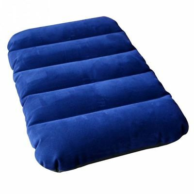 Travel 47*28cm Air Inflatable Pillow Outdoor Portable Folding Flocking Cushion Z