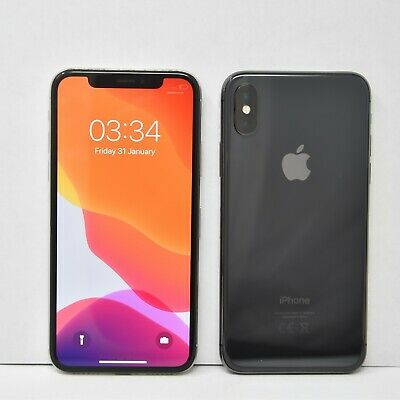 Apple iPhone X 64GB, SIM FREE/LOCKED, silver/space grey,Smartphone Colours Grade