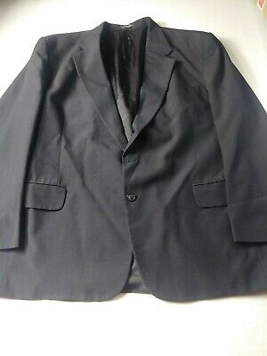 Stafford Mens Suit Size 46R (Pants 36.5x30.5) Black Two Button Vented