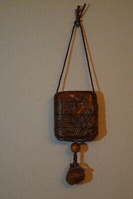 Japanese Handcarved Wooden Container for Personal Items.