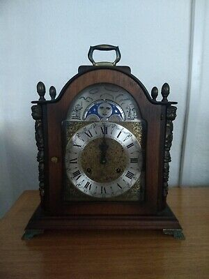FRANZ HERMLE Mantel Clock Rolling Moon Phase With Ting Tang Chime No Reserve